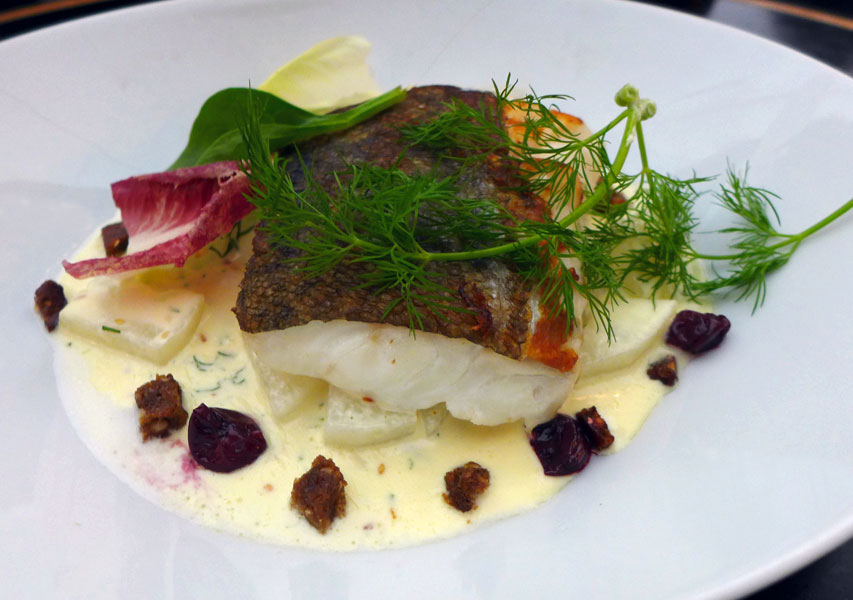 Restaurant Flora Danica : Dos de cabillaud au sel