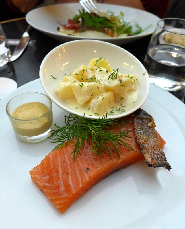 Restaurant Flora Danica : Saumon mariné à l'aneth