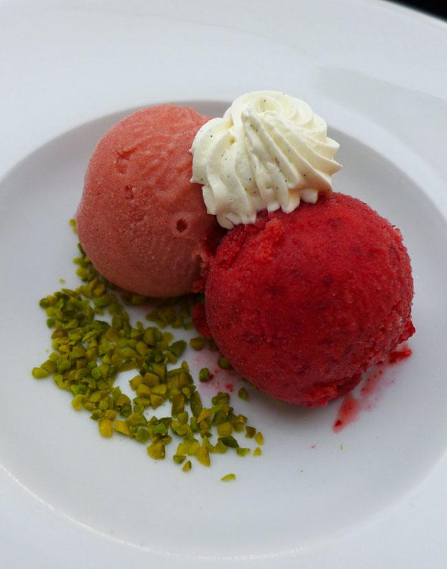 Restaurant Flora Danica : Assortiment de glaces