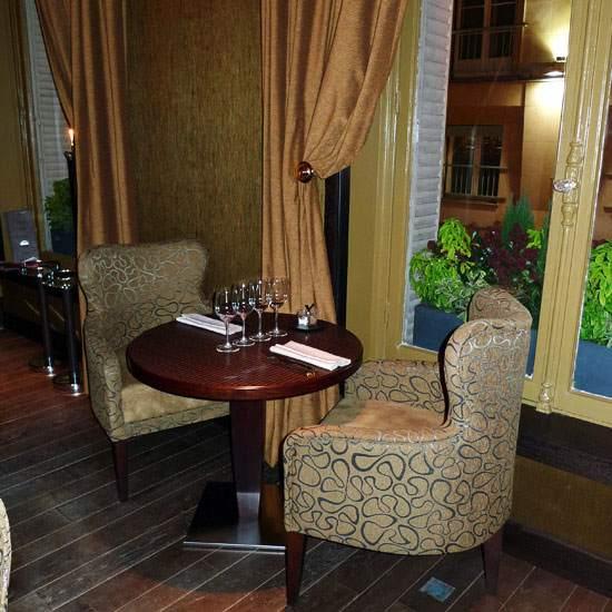 Restaurant Flottes O Trement, des tables confortables