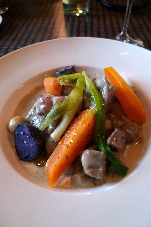 Restaurant Flottes O Trement, blanquette de veau