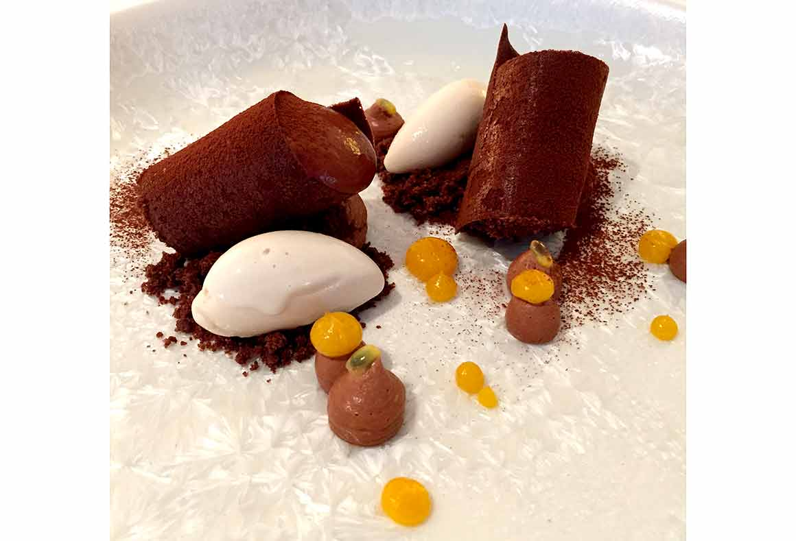 Restaurant Marcore, dessert chocolat de Papouasie