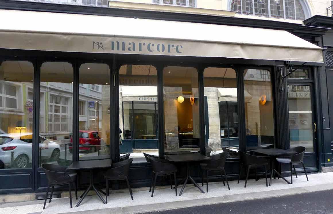 Restaurant Marcore, la terrasse