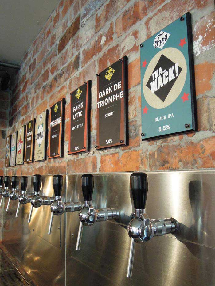 Brasserie Frog Révolution, bières maisons