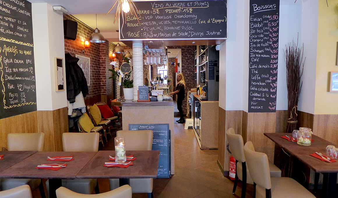 La salle du restaurant GALIA
