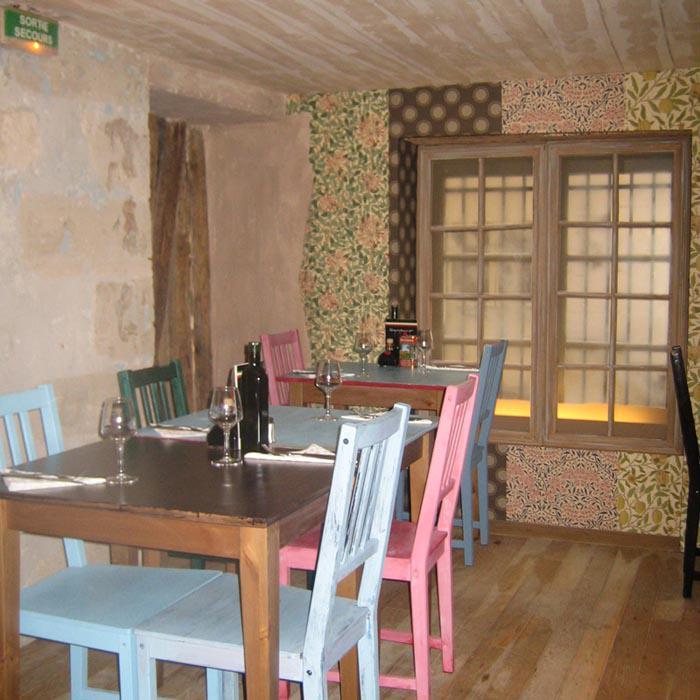 Restaurant Gambino, les tables