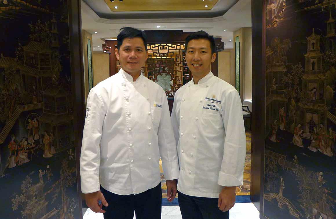 Le chef Mok Kit Keung et le chef Samuel Lee