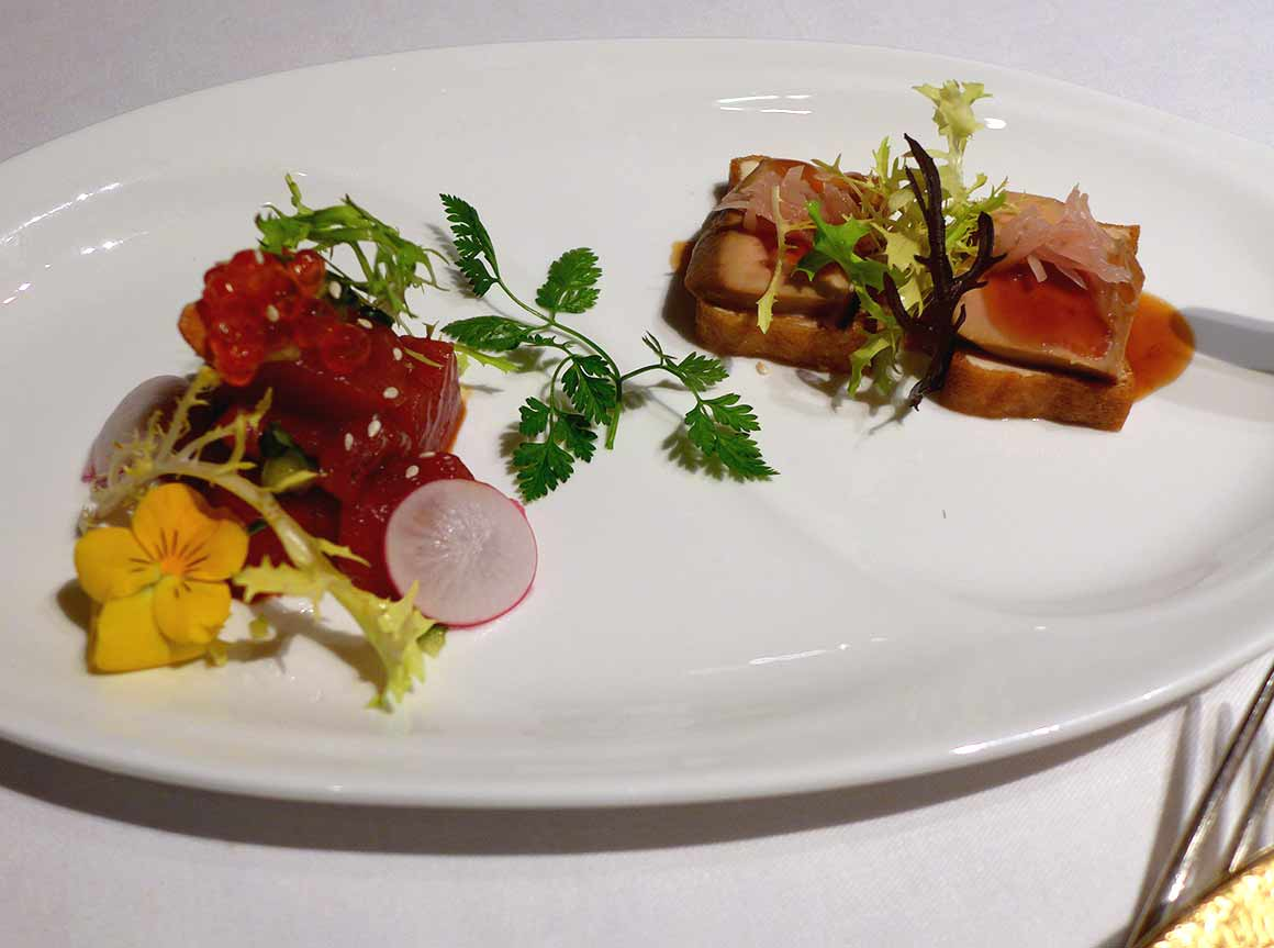 Restaurant Shang Palace : Filet de thon rouge Foie gras de canard et tofu mariné