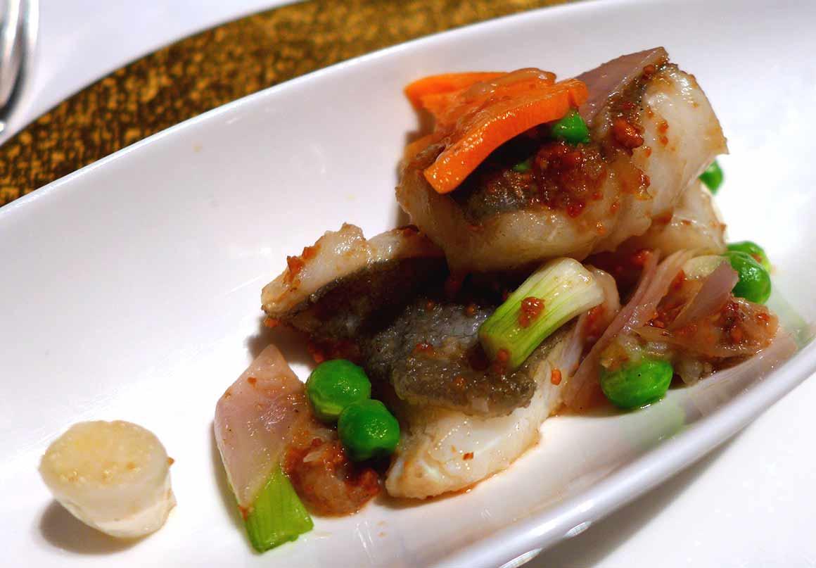 Restaurant Shang Palace : Filet de Saint-Pierre sauté
