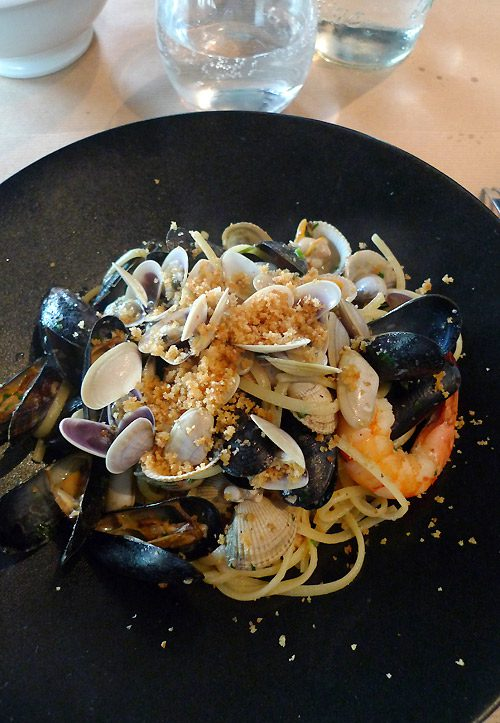 Restaurant Genio, spaghettis aux fruits