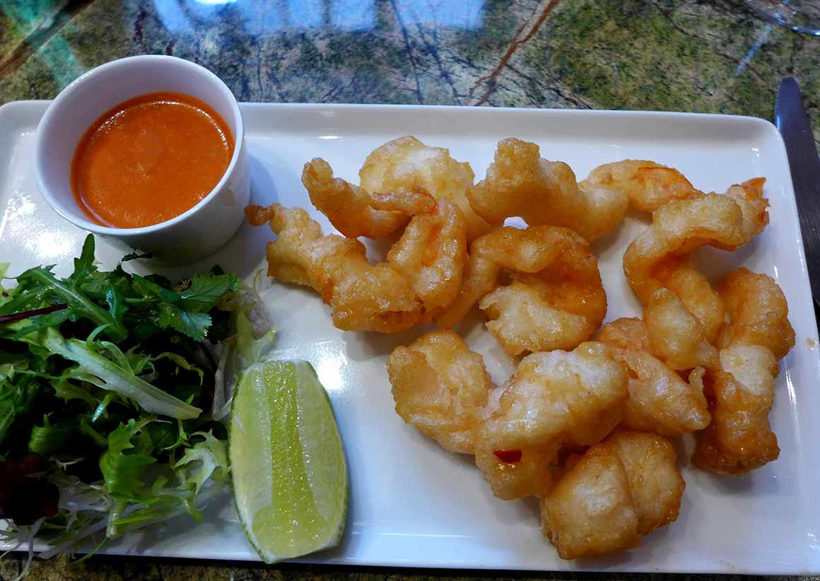 Restaurant Ginger, Crevettes creamy spicy