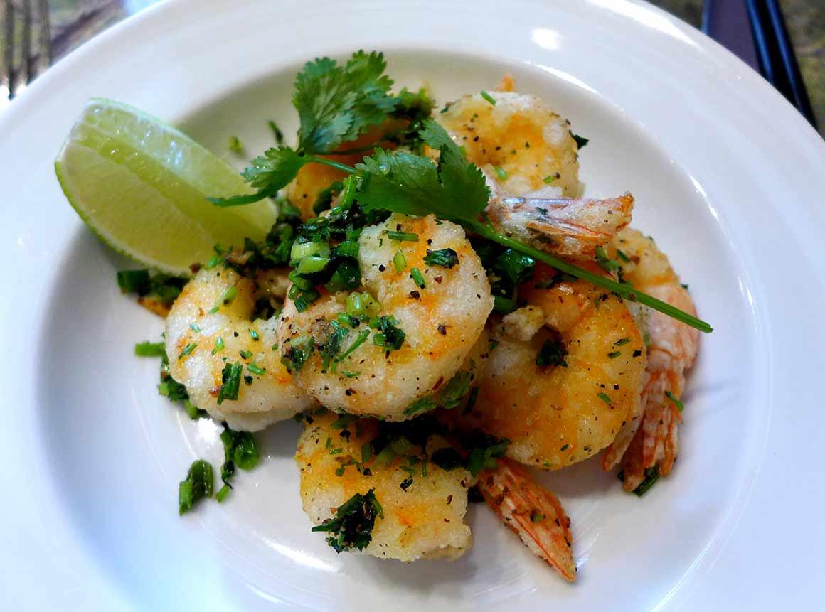Restaurant Ginger, Crevettes ail poivre