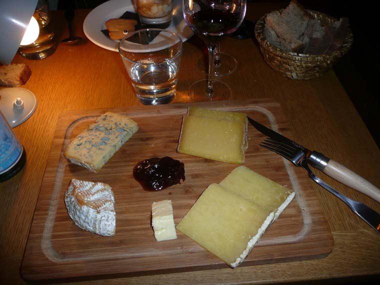 Restaurant Glou, assortiment de fromages