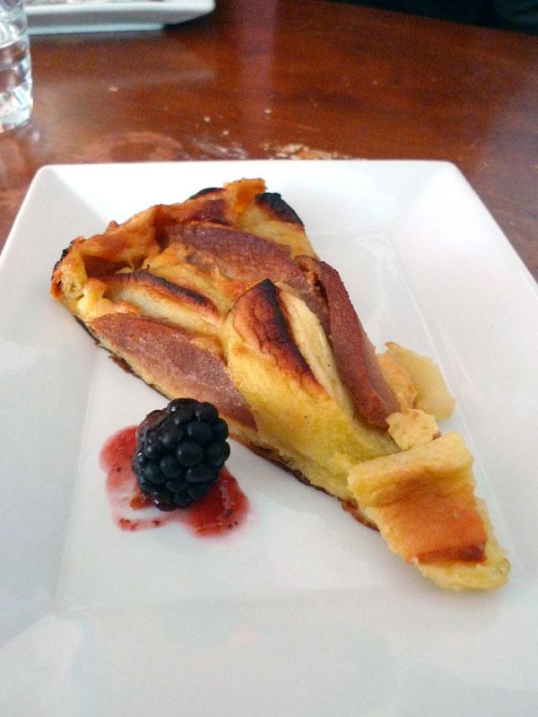 Restaurant Gourbi Palace, La tarte pommes et coings
