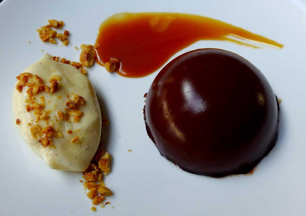 Restaurant Grand Coeur : Semi-freddo au chocolat