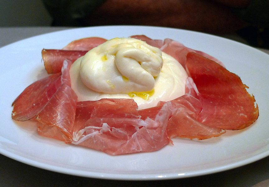 Restaurant Guy Martin Italia : Burrata del Puglie et Culatello