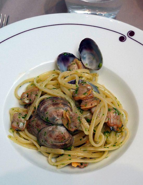 Restaurant Guy Martin Italia : Spaghettis aux palourdes