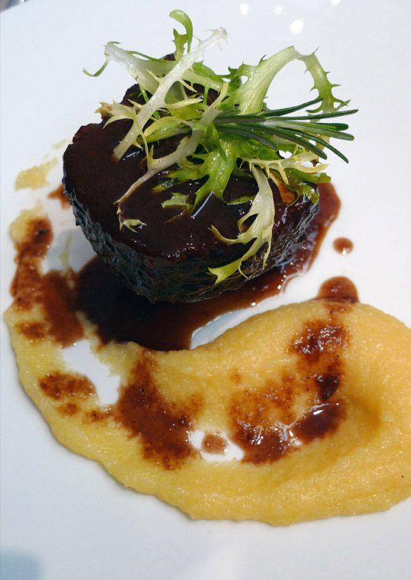Restaurant Guy Martin Italia : Bœuf braisé au Barolo et polenta