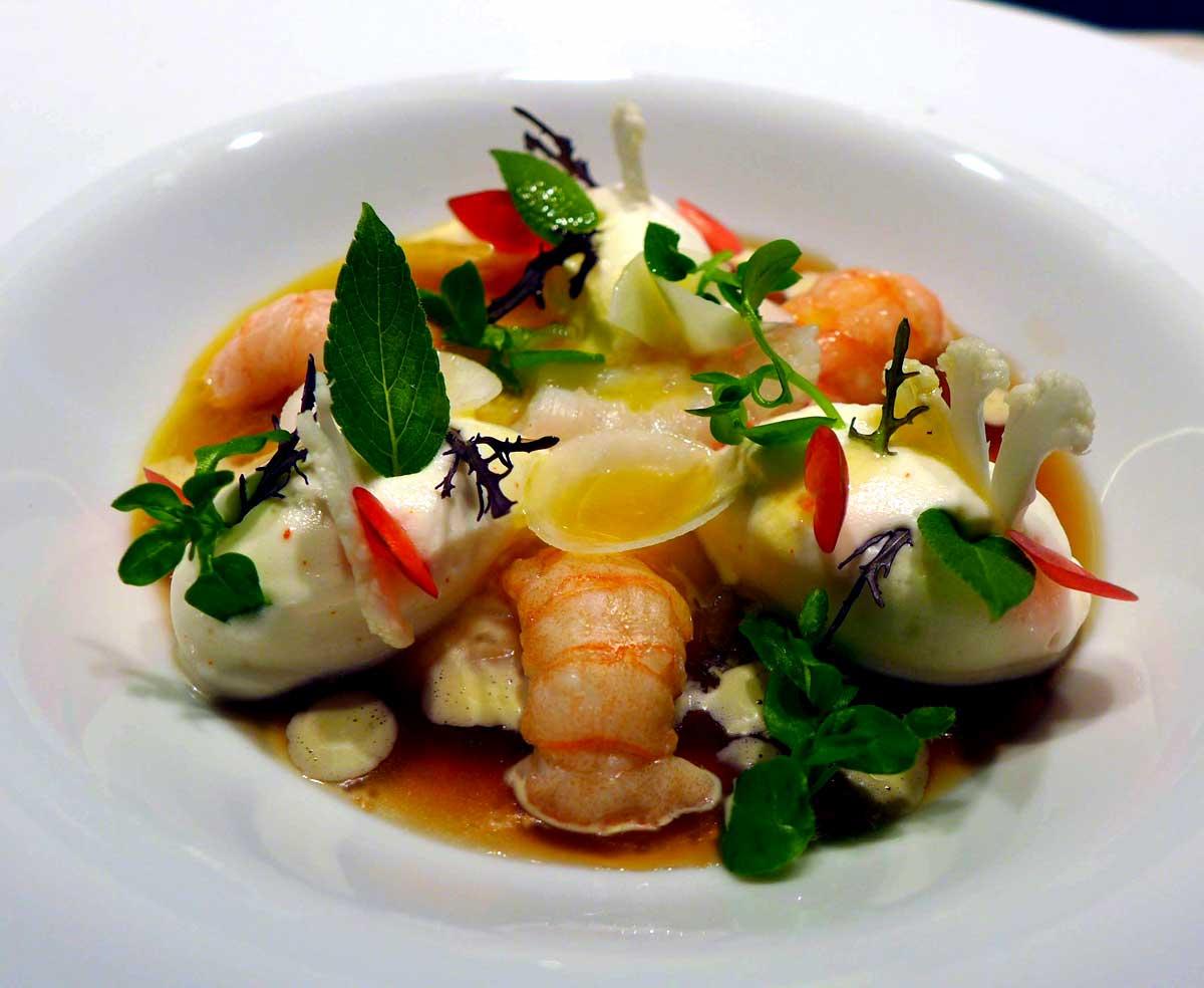 Restaurant HEXAGONE : Gelée anisée d'écrevisses