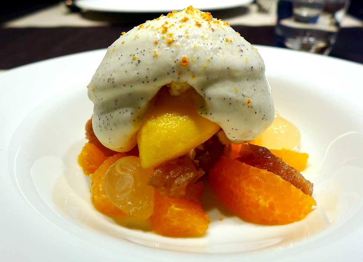 Restaurant HEXAGONE : Mandarine avec marron glacé