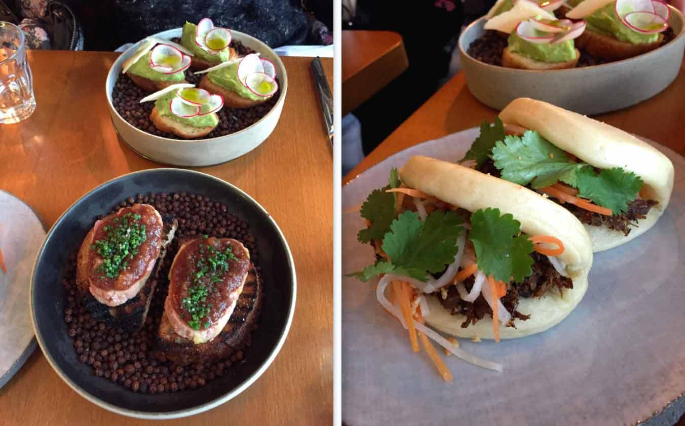 Restaurant HUGO & CO, foie gras-brioches vapeur-légumes