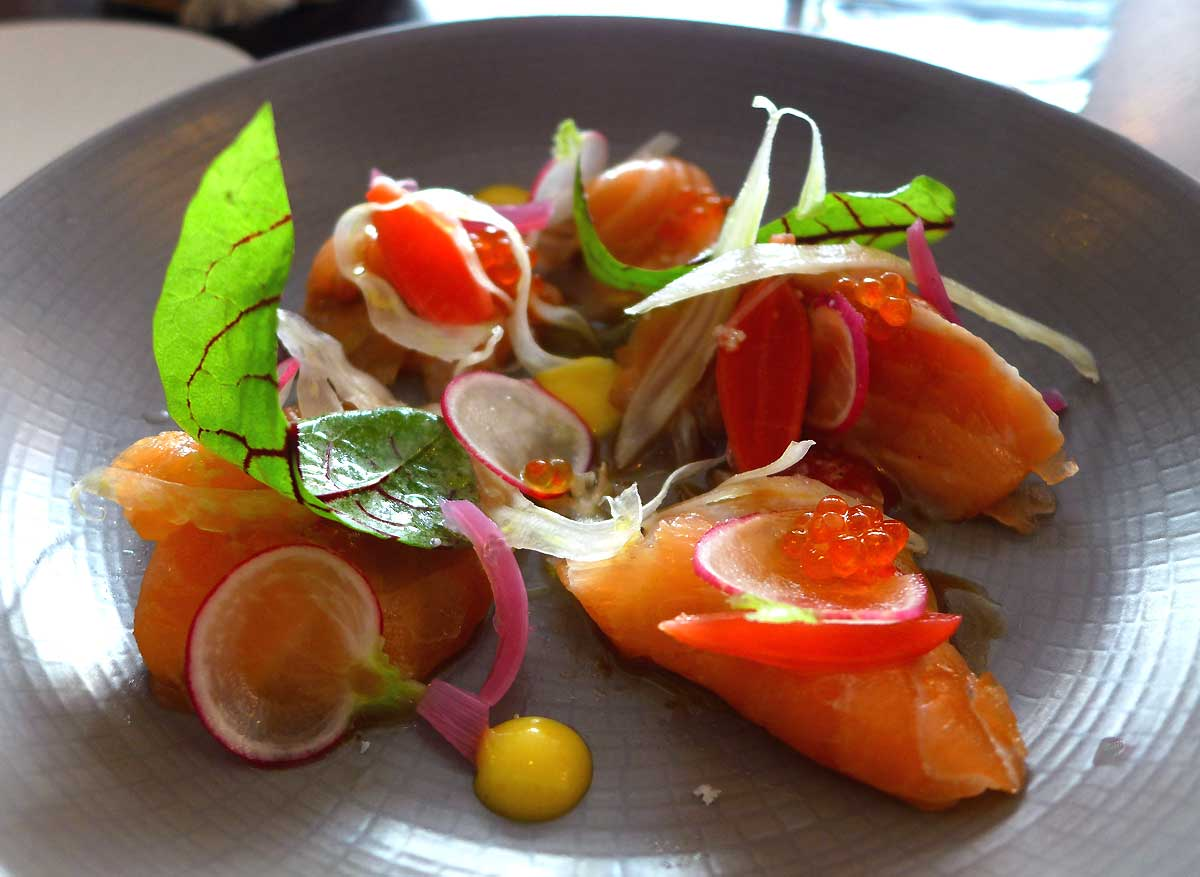 Restaurant Ida, Carpaccio de saumon