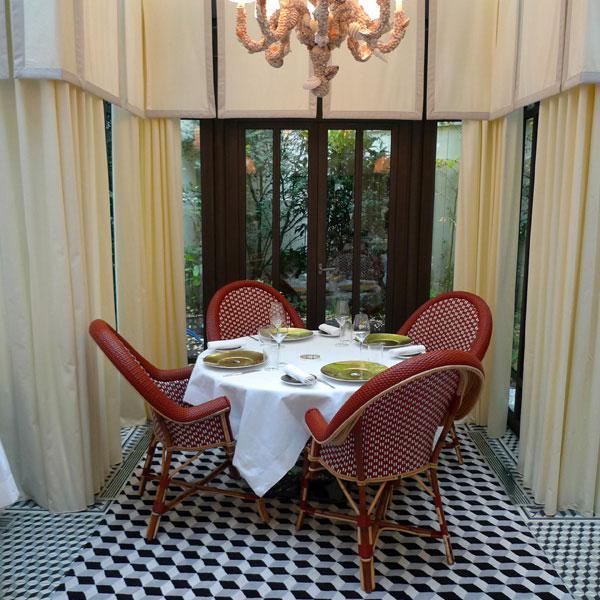 Restaurant Il Carpaccio, Décoration d'esprit