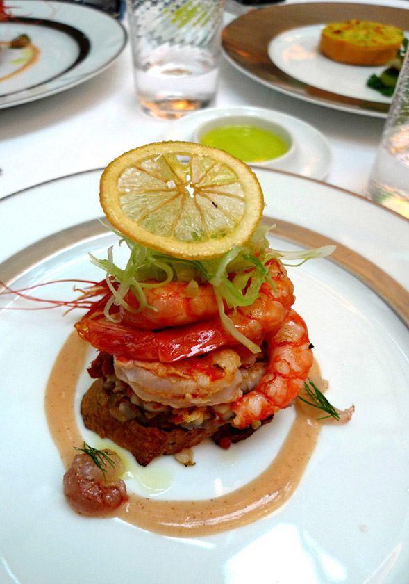 Restaurant Il Carpaccio, grosses crevettes