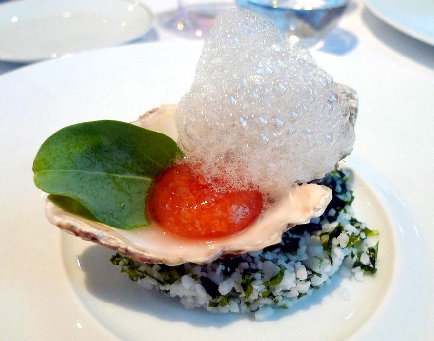 Restaurant Il Vino, huître Garibaldi