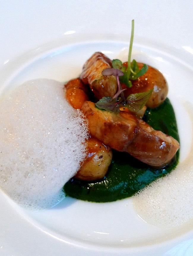 Restaurant Il Vino, cèpes avec anguille cresson