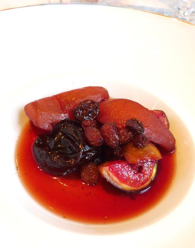 Restaurant Il Vino, poire rôtie aux épices