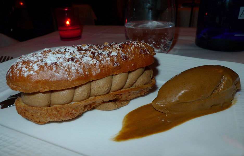 Restaurant Invictus, paris-brest et glace expresso