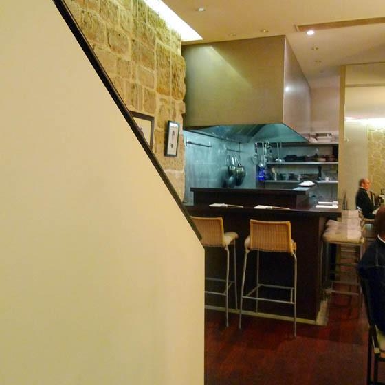 Restaurant Issé, la salle du sous-sol