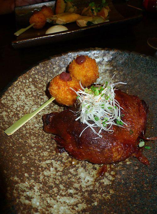 Restaurant Issé, cuisse de canard confit