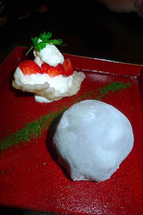 Restaurant Issé, Daifuku de fraise
