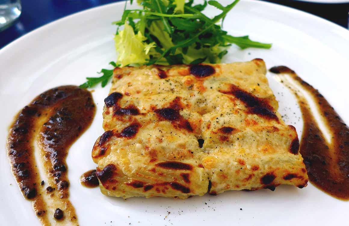 Restaurant Jaïs : Macaroni gratiné au parmesan