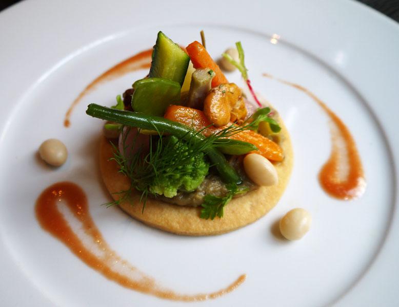 Restaurant Josefin, Multicolore de légumes de saison