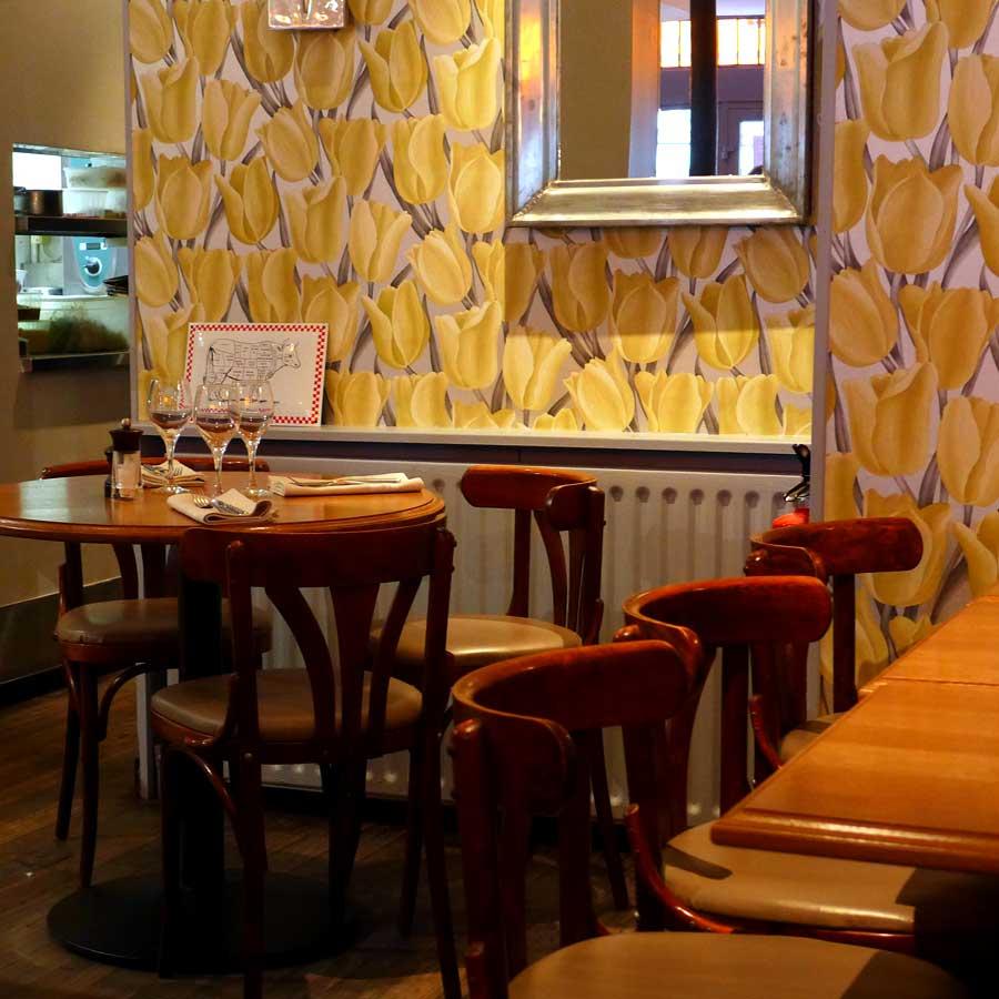Restaurant Juste Le Zinc : La salle