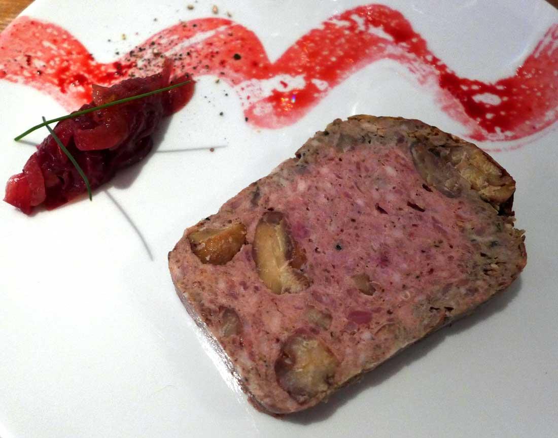 Restaurant Juste Le Zinc : Terrine de faisan