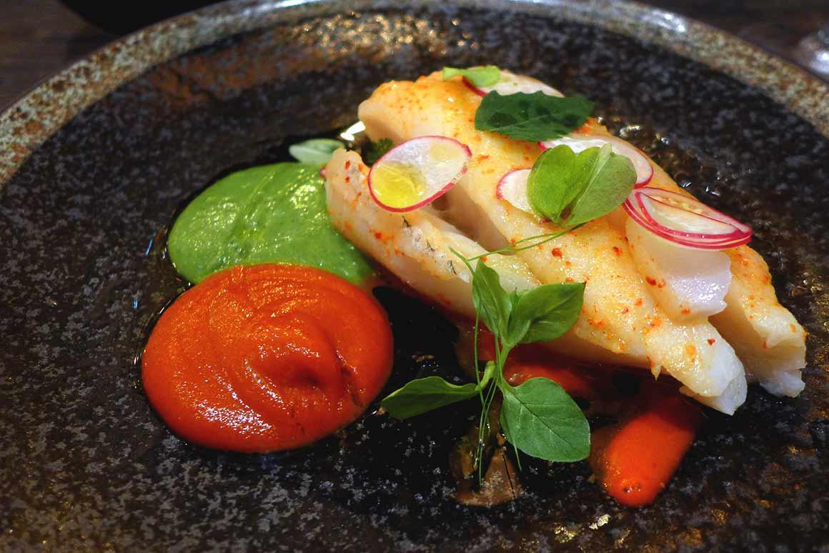 Restaurant Juvia, Dos de cabillaud sauce aïoli