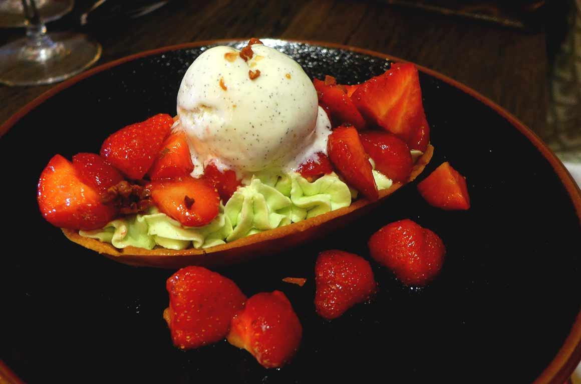 Restaurant Juvia, Barquette aux fraises