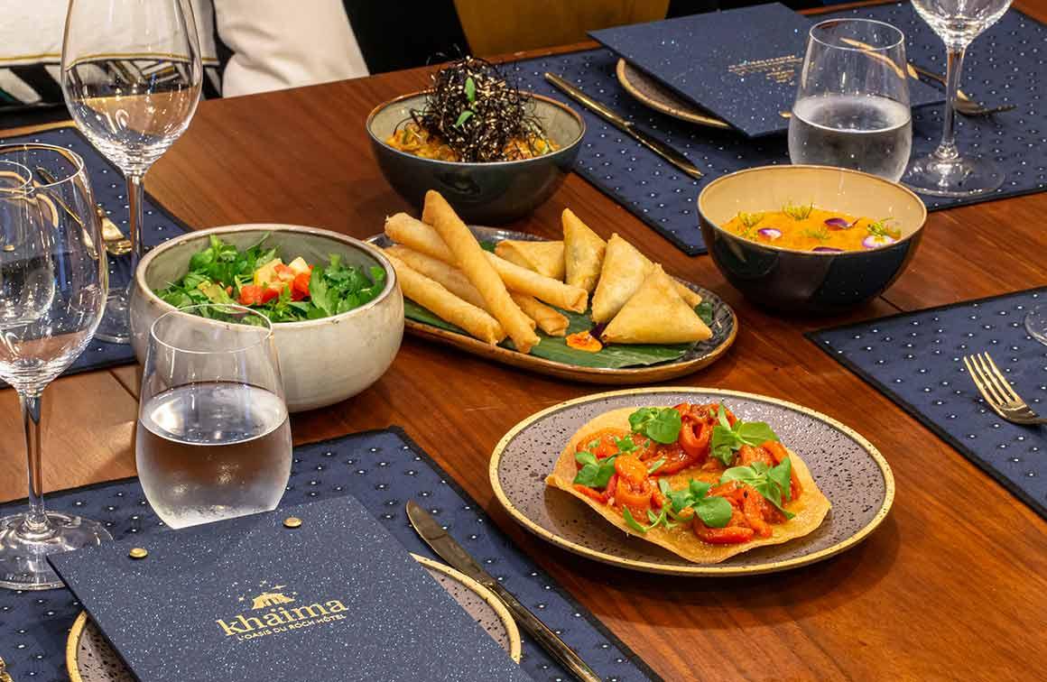 Khaïma du Roch Hôtel doigts de la mariée et salades marocaines