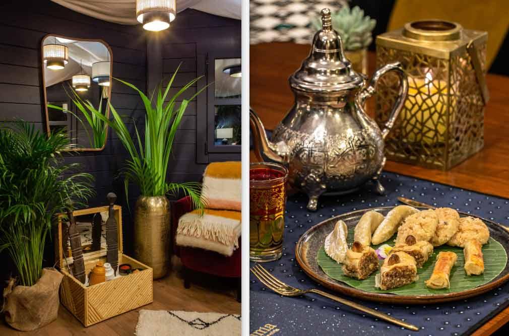 Décor de Khaïma du Roch Hôtel pâtisseries marocaine