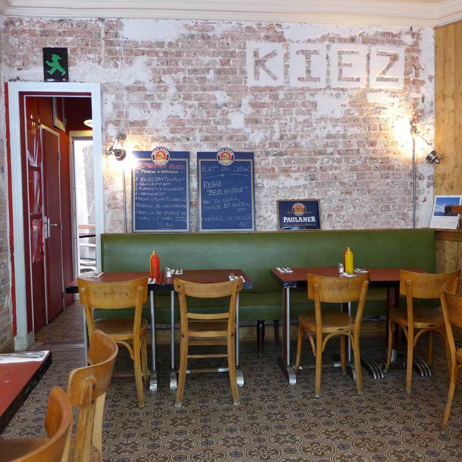 Restaurant Kiez Biergarten, la salle
