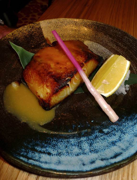 Restaurant Kinugawa, black code grillé