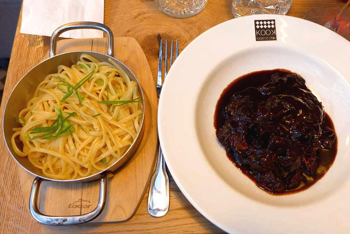 KOOK Restaurant : La joue de boeuf et pâtes