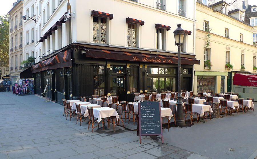 Restaurant La Bouteille d'Or, le restaurant sur le quai