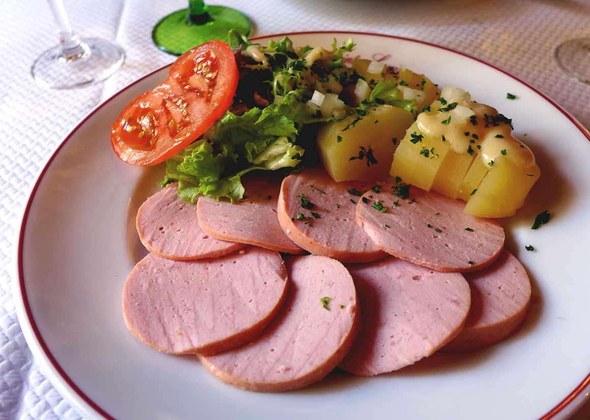Restaurant La Brasserie de l'Isle Saint-Louis : Cervelas en salade pommes