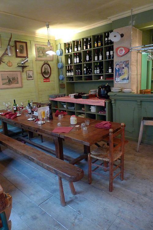 La Cantine des Tontons, Une table d'hôtes du restaurant