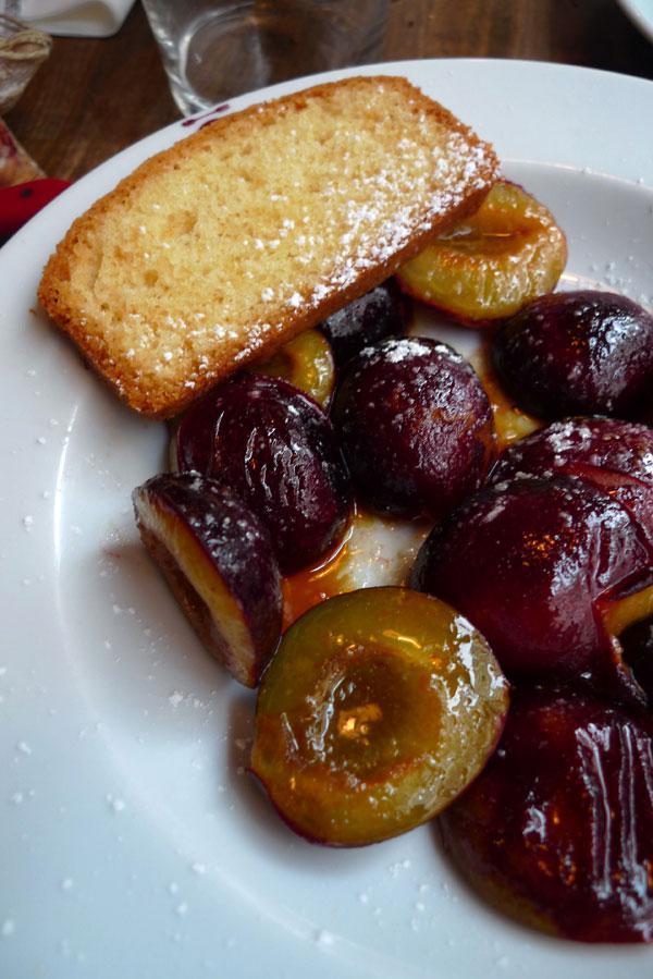 Bistrot La Cantine du Troquet,La poêlée de prunes au caramel